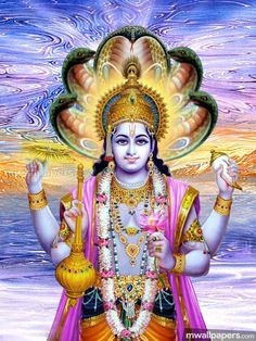 Vishnu God Image & Wallpapers of Lord Vishnu Bhagwan G Indian Gods, Indian Art, Rama Image, Lord Vishnu Wallpapers, Radha Krishna Wallpaper, Lord Krishna Images, Hindu Art, Live Wallpapers, Gods And Goddesses