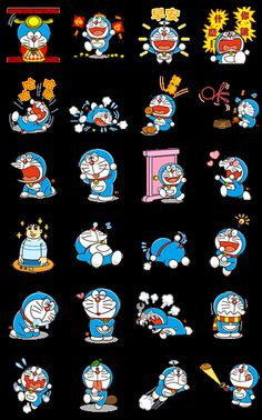 Doraemon is back with animated stickers! This set packs the Anywhere Door and all your other favorite magical gadgets from the future, as well as a healthy dose of the blue robot cat himself and Gian in all their glory.