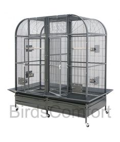 HQ Large Cage for Small Birds is good bird cage for: birds such as conures, cockatiels, parakeets and african greys. Small Bird Cage, Large Bird Cages, Small Birds, Green Wing Macaw, Macaw Cage, Finch Cage, Pet Corner, Conure, Chicken Coops