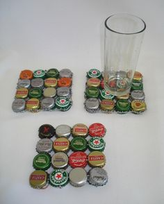 images of com recycled bottle top coaster radical recycling art our ranges wallpaper Bottle Cap Coasters, Bottle Cap Table, Bottle Cap Art, Bottle Top, Diy Bottle, Beer Bottle, Recycled Art Projects, Recycled Crafts, Diy Projects To Try