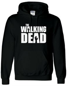 Black The Walking Dead Adults Hoodie, Unisex, Mens, Hoody, Sweatshirt, Zombies #Gildan #Shirts