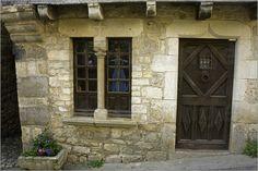 I love the door, window, built-in-flower box, the masonry. Copyrighted by Barbara Van Zanten Lounge, Window Frames, Stone Carving, Flower Boxes, Wooden Doors, Doorway, Pathways, Facade, Restoration