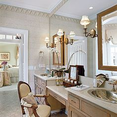 Luxurious Master Bathrooms   Sophisticated Master Bath   SouthernLiving.com