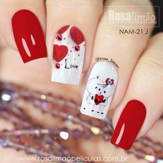 The Best Nail Art Designs – Your Beautiful Nails Valentine's Day Nail Designs, Short Nail Designs, Nails Design, Red Nail Art, Pink Nails, Matte Nails, Valentine Nail Art, Heart Nails, Super Nails