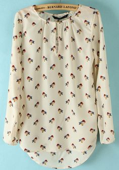 White Long Sleeve Birds Print Elastic Chiffon Blouse pictures 2019 White Long Sleeve Birds Print Elastic Chiffon Blouse pictures The post White Long Sleeve Birds Print Elastic Chiffon Blouse pictures 2019 appeared first on Chiffon Diy. Camisa Social Jeans, White Long Sleeve, Long Sleeve Tops, Sammy Dress, Blouse Online, Get Dressed, Dame, Work Wear, Cute Outfits