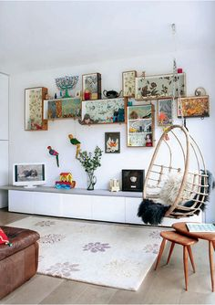 Eco-Interior.   Use your old drawers as shelves...