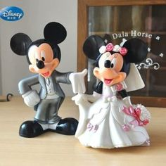 Product Name 7 cm Minnie Mickey Mouse marry Action disney China red dolls kids Toy Figures wedding present kids gift Product Category Toys. Lego Disney, Disney Dolls, Walt Disney, Mickey And Minnie Wedding, Minnie Y Mickey Mouse, Super Mario Bros, Bride And Groom Cake Toppers, Red Dolls, Wedding Cake Toppers