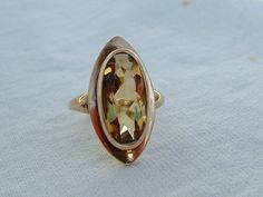 Vintage Citrine 9ct Gold Ring * 9 ct Gold Citrine Ring * Lovely Sparkly * Navette Marquise Citrine 9 k Gold Ring! by SpivandDaisy on Etsy https://www.etsy.com/listing/213243715/vintage-citrine-9ct-gold-ring-9-ct-gold