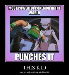 #pokemon2000 #ash #mewtwo this kid tried to catch a pidgey with his shirt