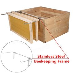 Stainless Steel Beekeeping frame Holder Bee Hive Perch Bee Hive frame Holder - US$10.80 - Banggood Mobile