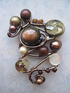 Brooch - idea to make it Blithe-ologyish, use found items