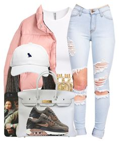 """Jaquees / Come Thru"" by nasiaamiraaa ❤ liked on Polyvore featuring H&M, Maison Margiela, Y-3, Forever New, Rolex, October's Very Own, Hermès, NIKE and NanaOutfits"