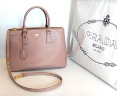 Prada Saffiano Lux Tote, BN2274, Cameo color for Angela Wong in March 2012. 1ec7fefe11