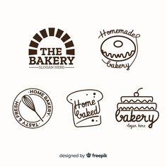 Line art bakery logo template Free Vector Logos Vintage, Vintage Bakery, Bakery Branding, Logo Branding, Corporate Branding, Brand Identity Design, Branding Design, Dessert Logo, Donut Logo