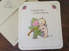 Vintage Rose O'Neill Kewpies Card - 'Everybody has a Special Kewpie Doll . . . ' 1970s by dandelionvintage, $6.00