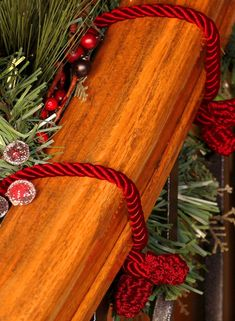 These Decorative Garland Ties keep your garlands in place without interrupting your Christmas decor. Hide Wires, Christmas Decorations, Holiday Decor, Fabric Decor, Garlands, Wreaths, Ties, Inspiration, Home Decor