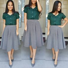 """751 Me gusta, 48 comentarios - Diana Wears What * Style Blog (@diwearswhat) en Instagram: """"I just can't quit the green and gray.. Happy Sunday!!  This may be my most favorite color…"""""""