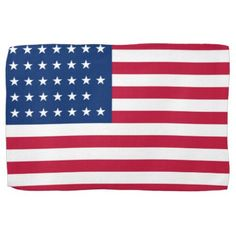 American Flag Patriotic Kitchen Towel - red gifts color style cyo diy personalize unique