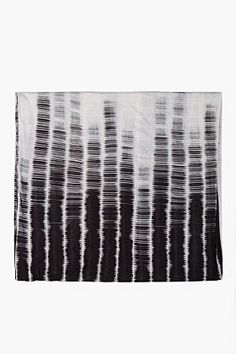 ANN DEMEULEMEESTER Striped Two Tone Aura Ombre Convertible Scarf