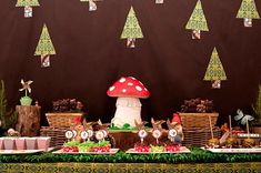 woodland party...Hubby really loves mushrooms & gnomes involved so we could work that in :)