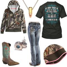 Daddy Taught Me Outfit. Southern OutfitsCute Country OutfitsWestern OutfitsCountry  DressesWestern WearShirts For GirlsCamo ... e7a90e53fe38b