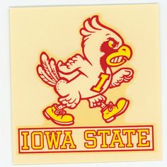 Iowa State Cyclone Vintage Water Decal NOS by retrorevivalgarage, $5.00