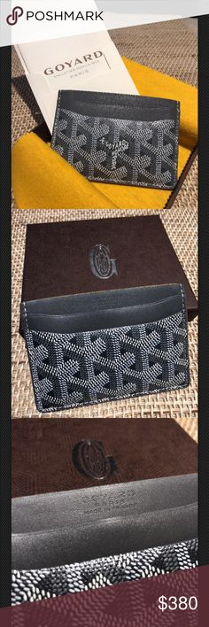 Grey GOYARD Saint Sulpice Leather Card Holder Pre-loved Goyard card holder. 💯 authentic.   Comes with tags dust cover and box. Goyard Bags Wallets