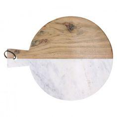 PIREE - chopping board - white marble/acacia wood - L - x 38 cm Acacia Wood, White Marble, Board, Kitchen, Table, Christmas, Xmas, Cuisine, Kitchens