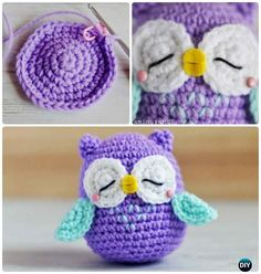 Little Amimigurumi Crochet Owl Free Pattern