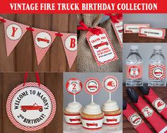 This firefighter birthday party printable collection is a cute way to celebrate your little firefighters birthday! Save over 35% when you