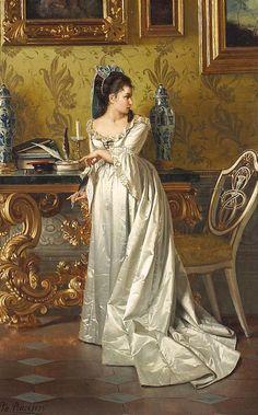 The Love Letter, 1875 by Pio Ricci (Italian 1850 - 1919)