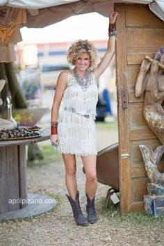 Fringe dress with cowgirl boots! - Junk Gypsy Photography