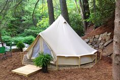 14' furnished Tent set next to waterfall - Get $25 credit with Airbnb if you sign up with this link http://www.airbnb.com/c/groberts22