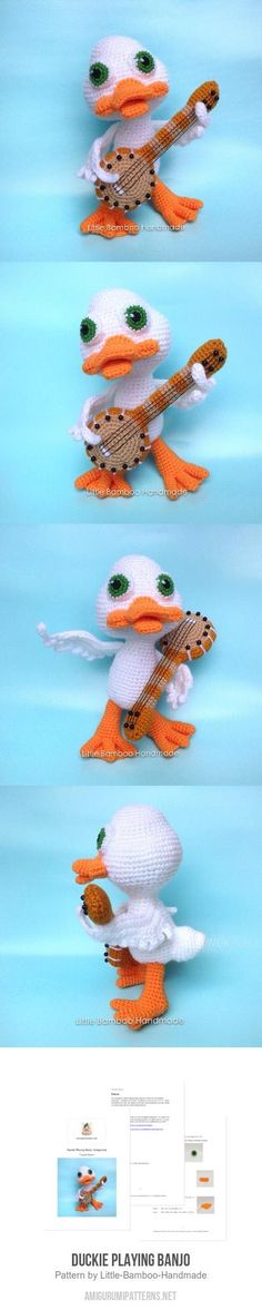 Duckie Playing Banjo Amigurumi Pattern