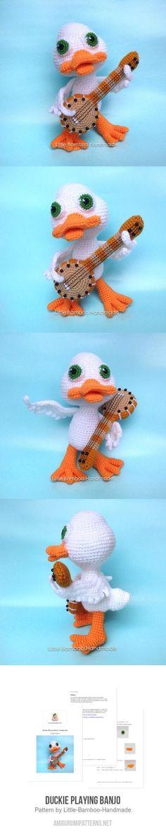 Duckie Playing Banjo Amigurumi Pattern