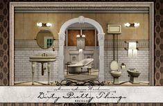 Mod The Sims - Dirty Pretty Things - Manor House Washroom Recolor