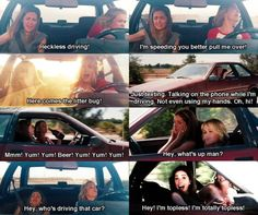 Bridesmaids! Hey who's driving that car?