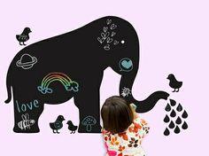 Baby Elephant Chalkboard Wallcandy