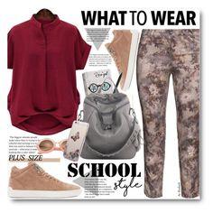 School Style (plus size) by beebeely-look on Polyvore featuring Steilmann, rag & bone, Kyme, Pentel, BackToSchool, plussize, plussizefashion, back2school and rosegal
