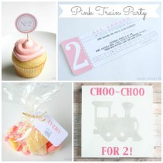 Pink Train Party by Design, Dining + Diapers Girl Birthday Themes, 2nd Birthday Parties, Girl Parties, Birthday Ideas, Train Party Decorations, Girl Train, Silhouette Cameo Projects, Childrens Party, Party Planning