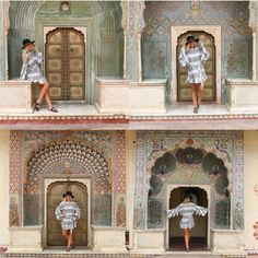 4 different doors, representing 4 different seasons!! found only at The City Palace in Jaipur... & I'm taking y'all there today on #beyoutifulblog - go read today's post to see why I think these symbolize the changes of our lives •• http://liketk.it/2sfMz #liketkit @liketoknow.it #india #jaipur #bloggerstyle #travelblogger