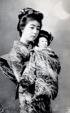 Young Geisha and Doll, 1905. S)