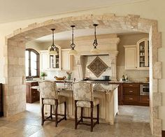 Impressively sized and detailed arch.  Not your ordinary sheetrock! Love this!!!