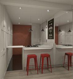 Projeto do escritório Atelier da Reforma - Apartamento Casa das Caldeiras - Render do projeto SketchUp + vray