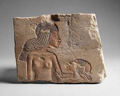Two Princesses. New Kingdom, Amarna Period, 18th Dynasty, reign of Akhenaten, ca. 1353-1336 B.C.