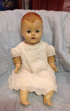Antique Vintage Doll Composition Baby Doll by MarveltyVintage