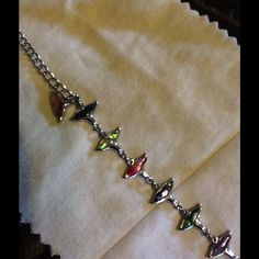 Ankle Bracelet Used Multi color whale tail ankle bracelet. Cute for the summer. Jewelry Bracelets