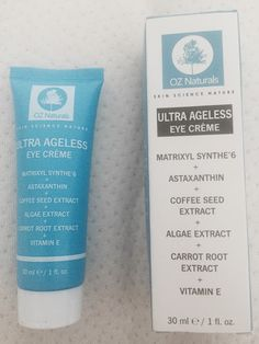 Oz Naturals Ultra Ageless Eye Creme (review at link)