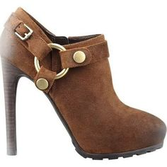 leather stacked heel clog - Google Search
