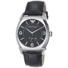 Emporio Armani Mens AR0342 Classic Black Dial Watch